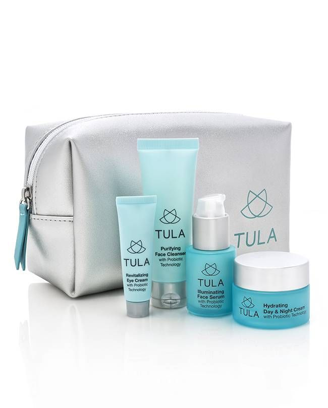 Probiotic 4 Piece Deluxe Discovery Kit. An all-in-one sample kit of TULA's probiotic skincare line. TULA Probiotic Skin Care, by Dr Raj.