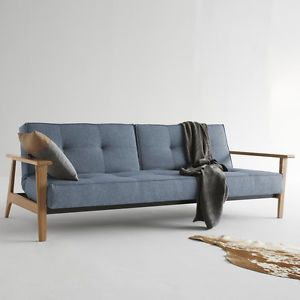 schlafsofa sofa klappsofa holzbeinen armlehnen splitback frej modern neu modern. Black Bedroom Furniture Sets. Home Design Ideas