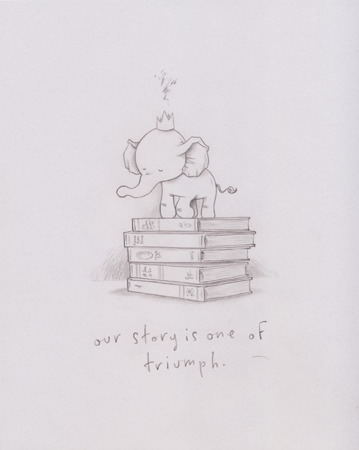 """""""We are one of triumph"""" drawing by @Kurthalsey $50.00 http://kurthalsey.com/triumph.html"""