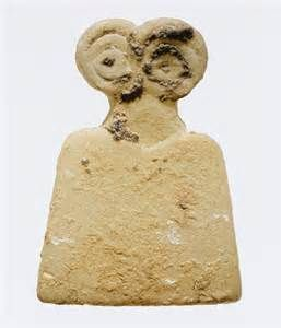 Eye idol , 3500–3100 b.c. ; middle–late Uruk period