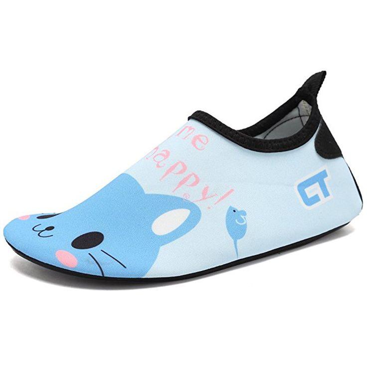 JACKSHIBO Summer Kid Water Shoes Casual Footwear Barefoot Light Weight Kids Quick Drying Aqua Socks For Beach Pool Cartoon Shoes