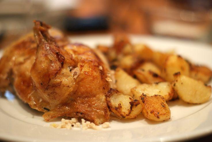 Verdens bedste kylling med sprøde bagte rosmarinkartofler...