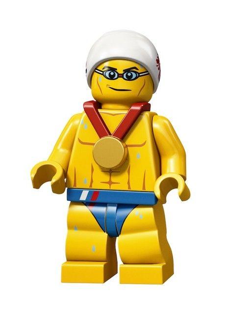 Lego 2012 Olympic Team GB Swimmer minifig