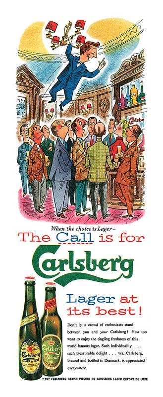 1956 Carlsberg ad