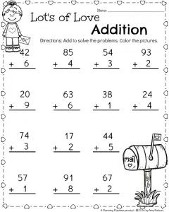 1st grade math and literacy worksheets for february teachers pay teachers my store. Black Bedroom Furniture Sets. Home Design Ideas