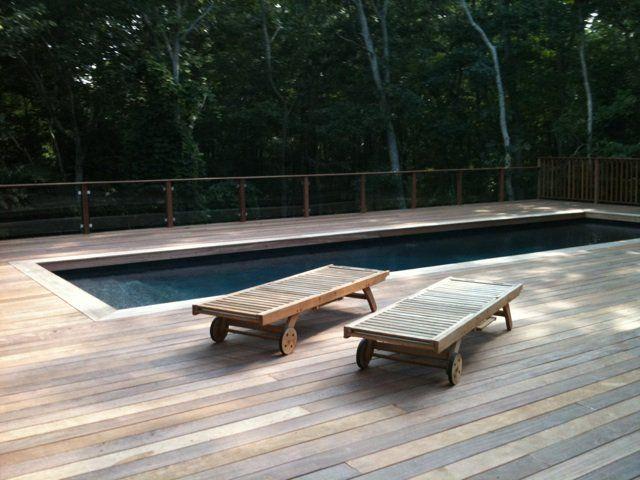 Cumaru Decking Around Pool Wood Pool Deck Cumaru Decking Deck Designs Backyard