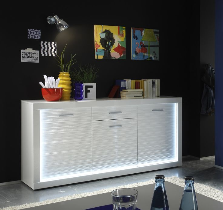 53 best Weiße Hochglanz Sideboards images on Pinterest | Cabinets ...