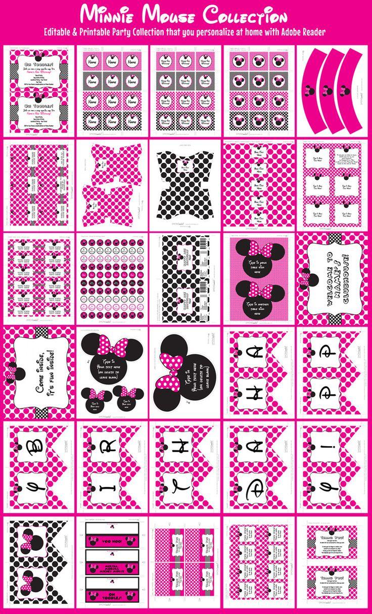minnie mouse party printables invitations u0026 decorations u2013 pink