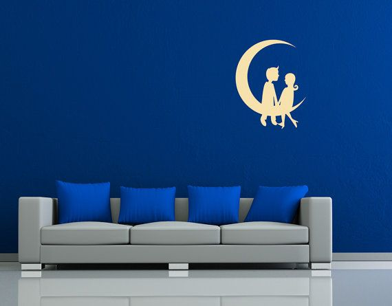 Cute Couple In Love Sitting On The Moon by StreamlineDesign, $19.95