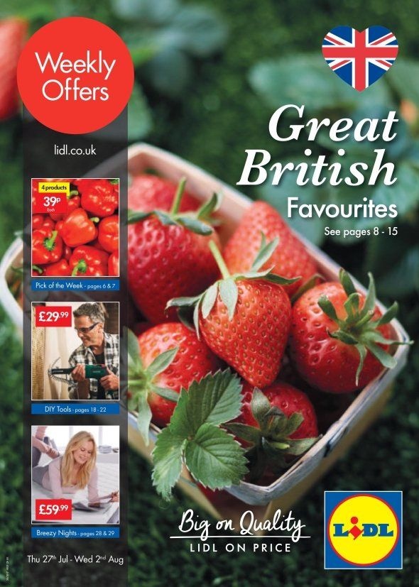 Lidl Offers Leaflet 27th July-2nd August 2017: Great British Favourites, DIY Tools, Breezy Nights and more special offers for You in this Lidl Catalogue.