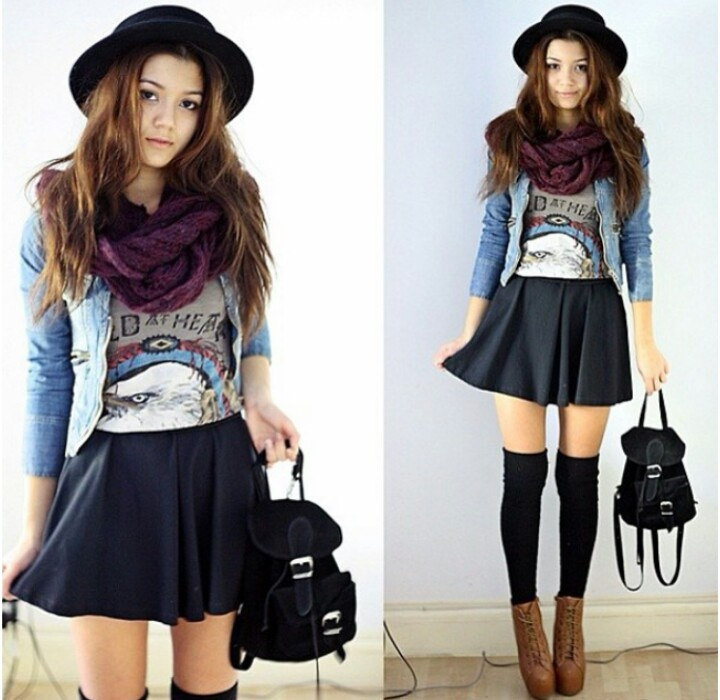 053cb257e I like the skirt with the socks and heels haha | Outfits for Girls ...