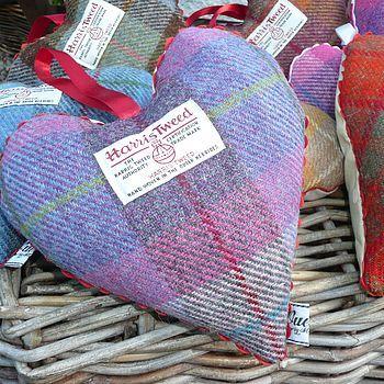 Repin: Harris Tweed Lavender Heart