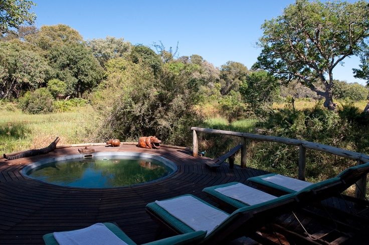 Xigera Camp is nestled deep in riverine forest on the aptly-named Paradise Island in the Okavango Delta. Year-round water allows for sublime mokoro and boating experiences.