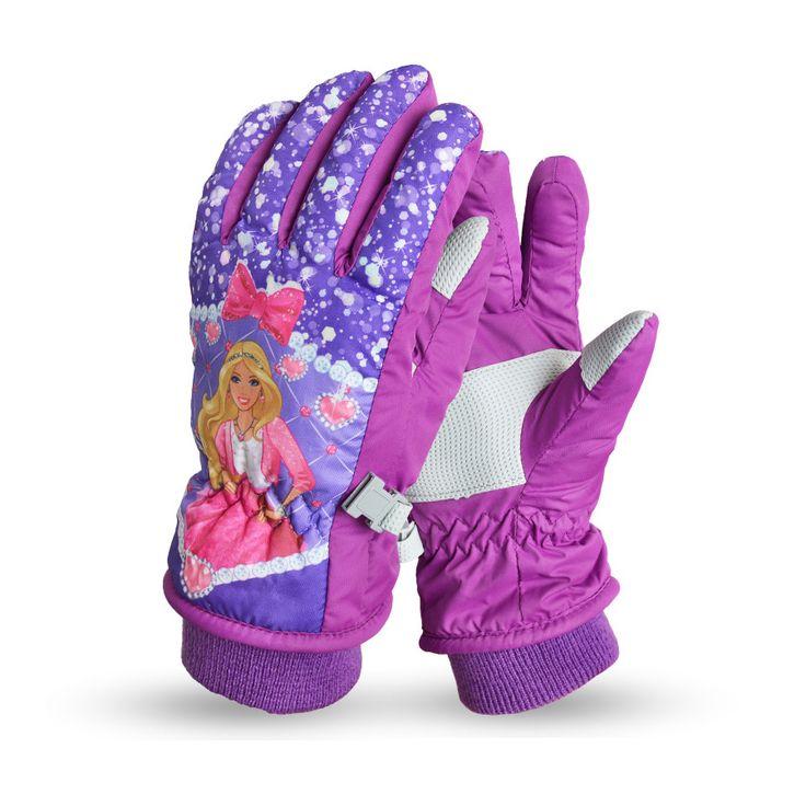 5-12 Years Children's Winter Ski Gloves Cartoon Cute Gloves Ski /skate/ bicycle riding/ skateboard warm Full Finger gloves