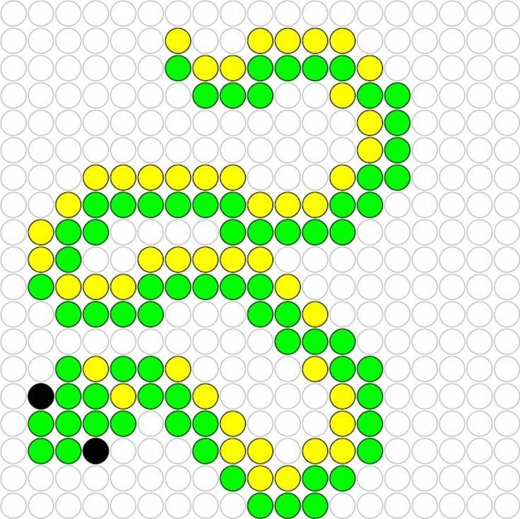 Snake hama perler pattern