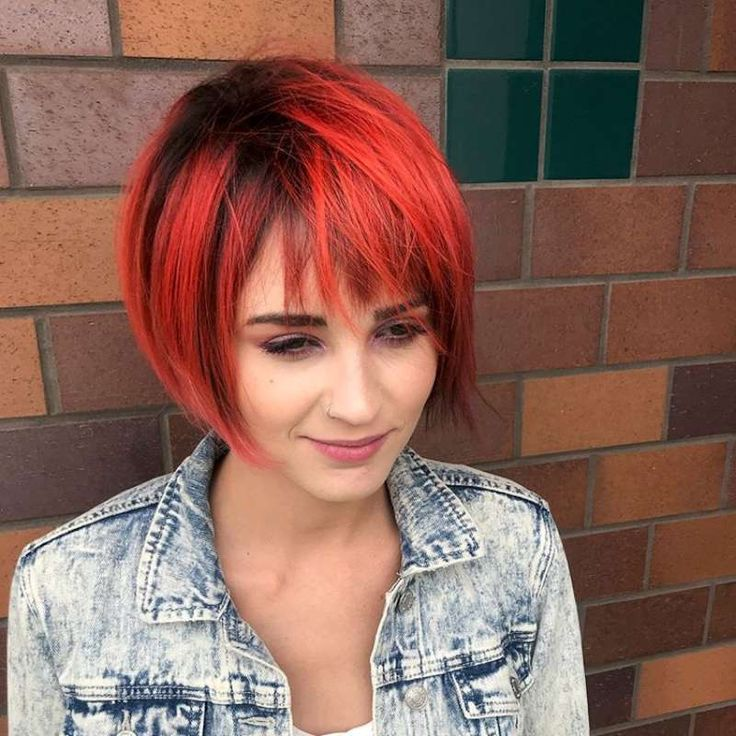 Short Hairstyles Red And Black - 6