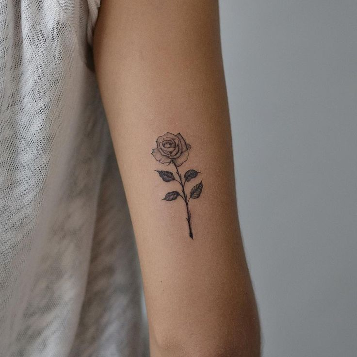 Rose tattoo floral