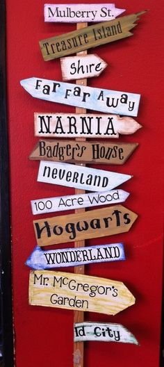 An invitation to adventure! I'd add Pumpkin House, Mrs Piggy Wiggle's Farm, Toad Hall, etc to personalize