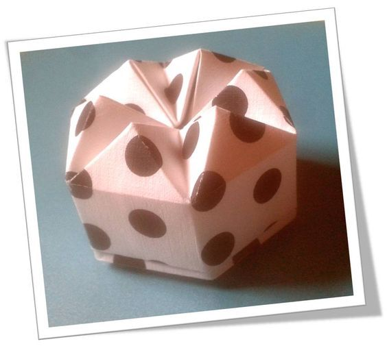 Origami Paper Diamond Box making of LID