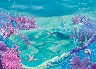 Fundo do Mar com Fundo Limpo - Kit Completo com molduras para convites, rótulos para guloseimas, lembrancinhas e imagens! - Fazendo a Minha Festa