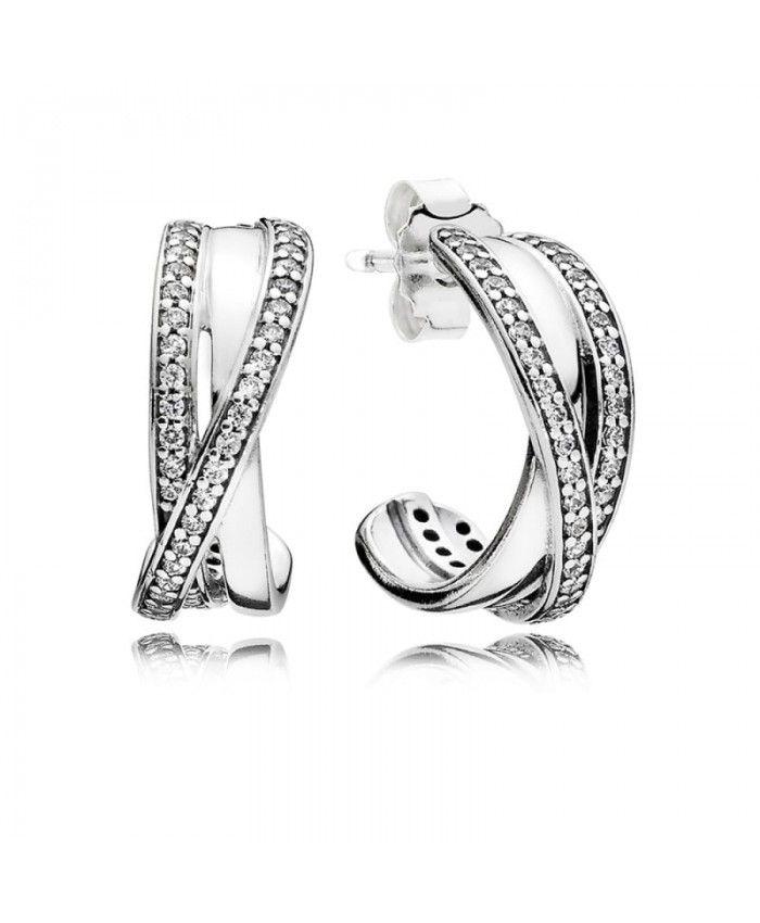 Pandora Entwined Hoop Earrings UK