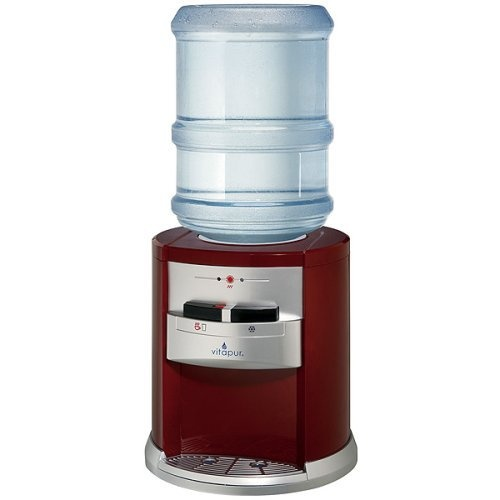 Vitapur Hot And Cold Countertop Water Dispenser   Red