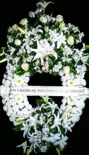 Envío de coronas de flores funerarias en el mismo día al tanatorio
