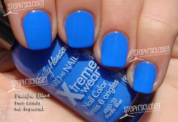 Pacific Blue by Sally Hansen ~ best summer blue EVER.