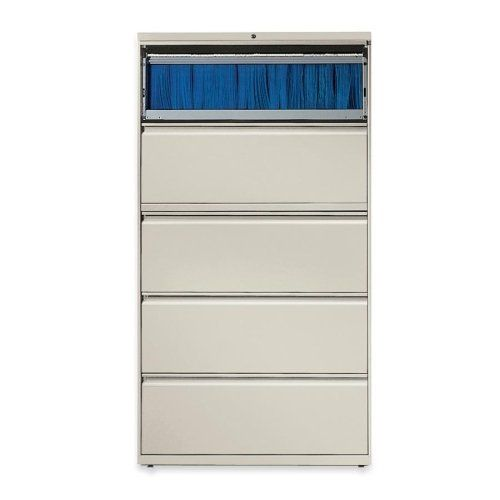 """Lorell 60442 Lateral File - 36"""" x 18.62"""" x 67.68"""" - 5 x File Drawer(s) - Legal, Letter, A4 - Rust Proof, Leveling Glide, Interlocking, Ball-bearing Suspension, Label Holder - Gray by Lorell. $641.58. Lorell 60442 Lateral File - 36"""" x 18.62"""" x 67.68"""" - 5 x File Drawer(s) - Legal, Letter, A4 - Rust Proof, Leveling Glide, Interlocking, Ball-bearing Suspension, Label Holder - Gray Lateral file features a roll-out binder storage/posting shelf and five drawers with hanging ..."""