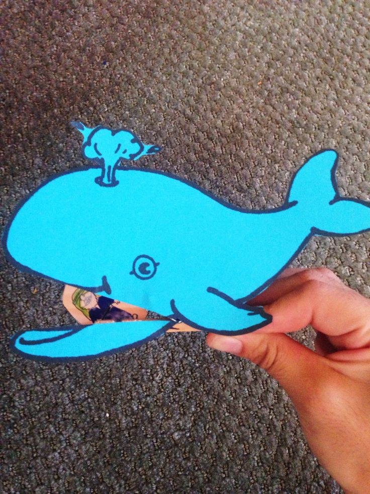 Jonah and the Whale clothespin craft