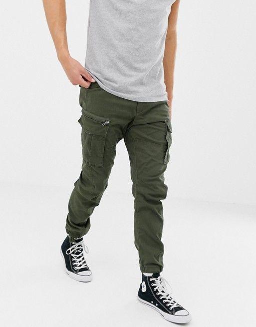 1f789837b85c4 Jack & Jones slim fit cargo pants in green in 2019 | Marisol ...