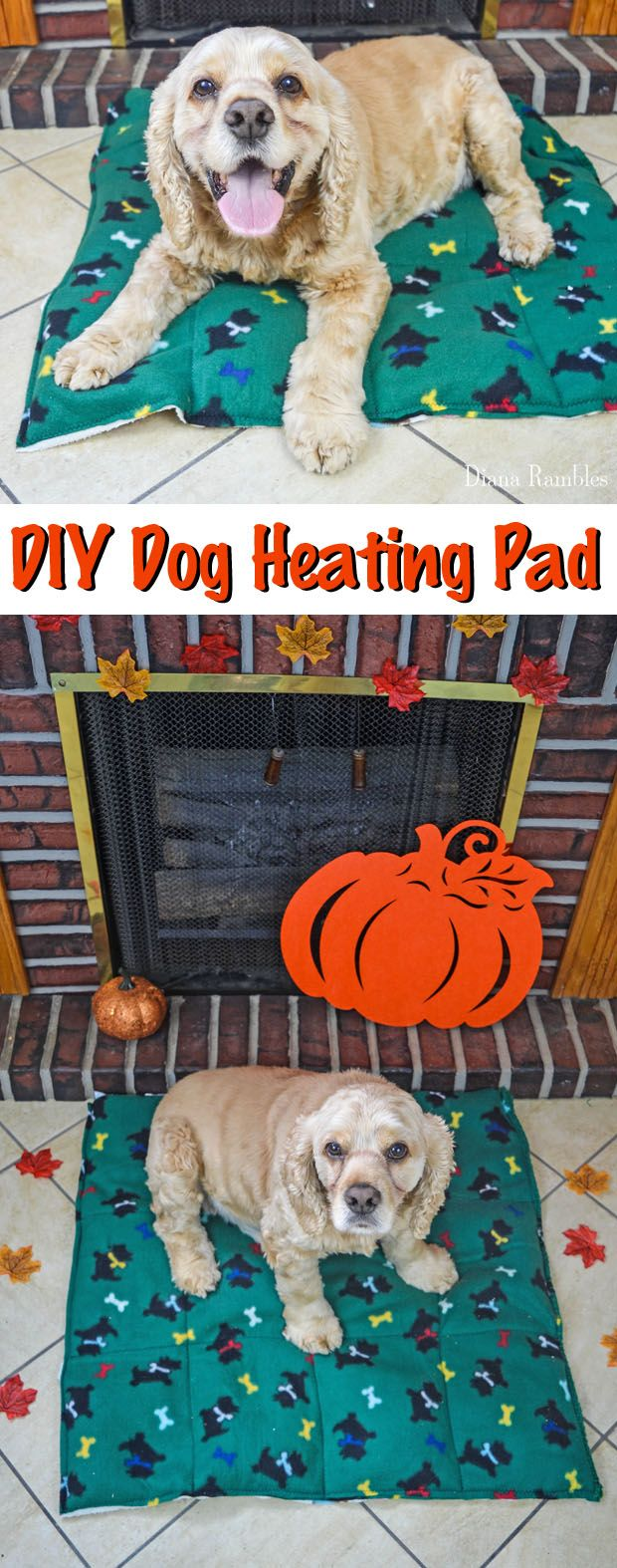 DIY Dog Heating Pad Tutorial - Make this Dog Heating Pad to keep your pooch warm during the cold of the winter. Your pet will love this heating bed. AD @walm #PAWsomeGifts #ClausAndPaws