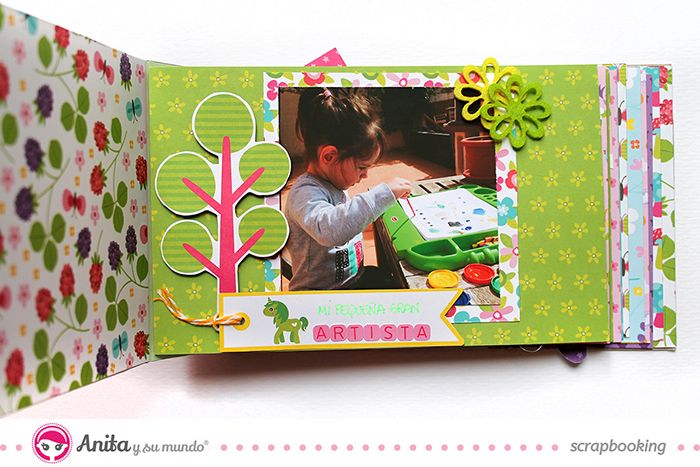 Mini álbum hecho con materiales de scrapbooking  interior 1