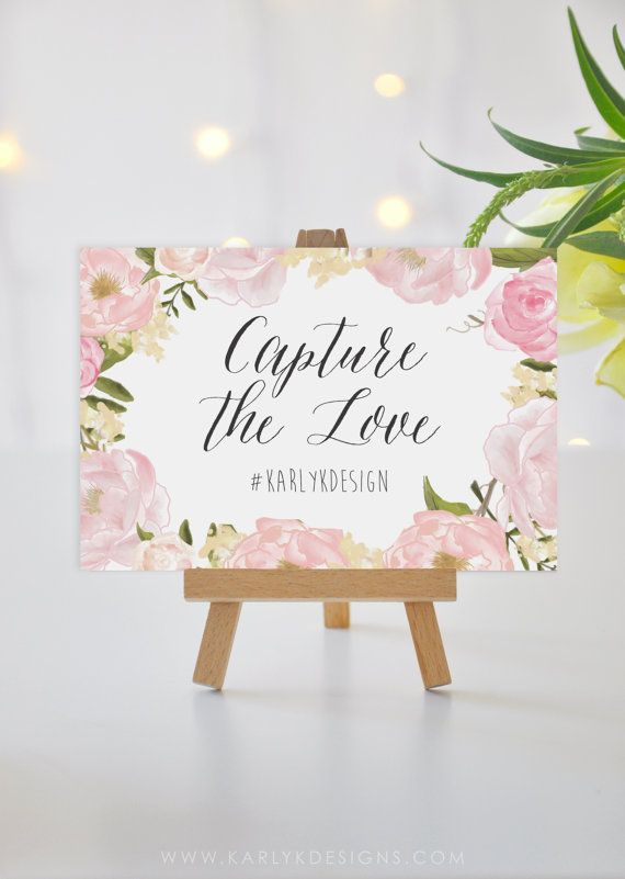 Printable Wedding Sign Template Instagram Sign by KarlyKDesignShop