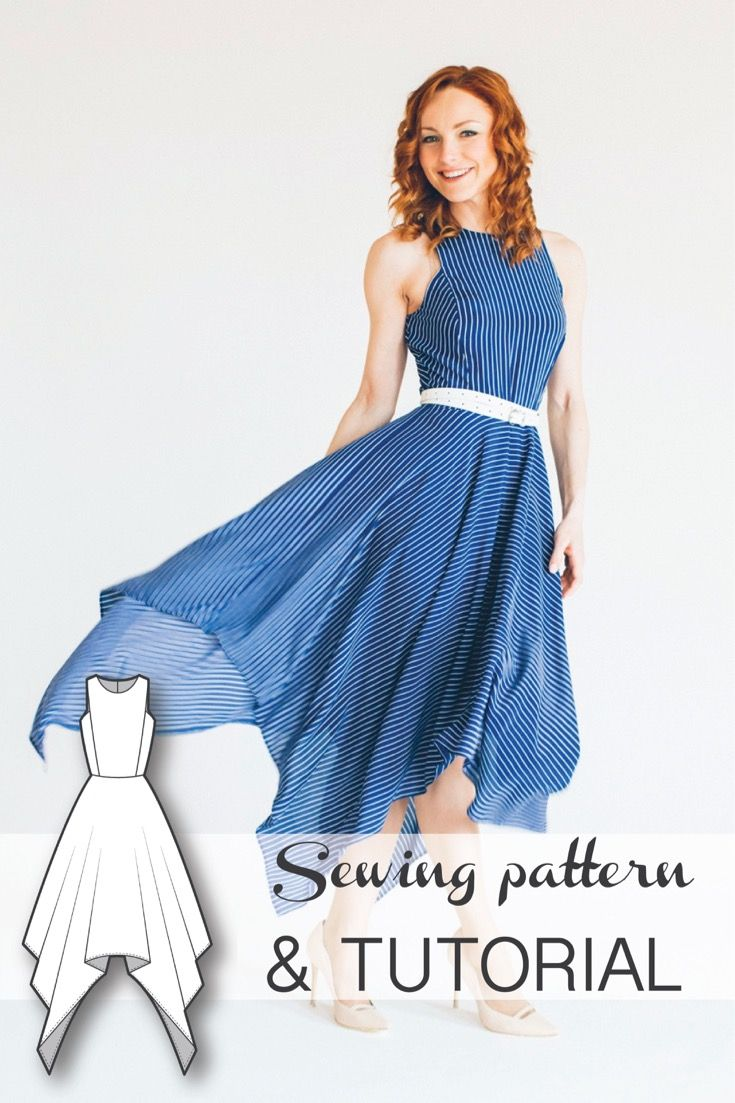 Dress Pattern - Dress Sewing Patterns - Sewing Tutorials - Maxi Dress Pattern - PDF Sewing Patterns - Sewing Projects - Sewing Patterns