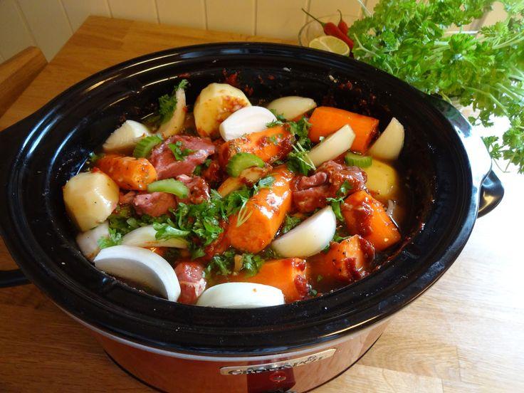 Edel's Mat & Vin : Crock-Pot Biffgryte med grønnsaker !