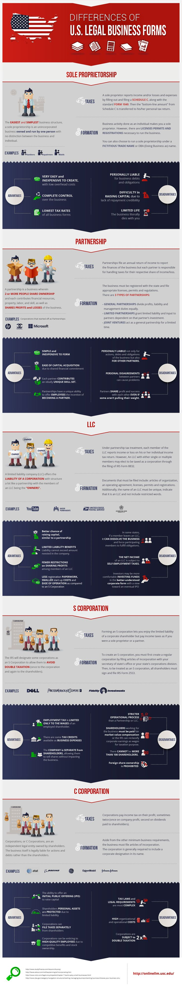 How Should You Incorporate Your Business? Here's a Cheat Sheet. (Infographic)