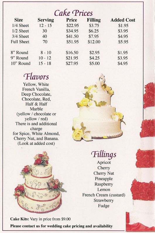 wedding cake price guide image result for http foodaramacatering 23548