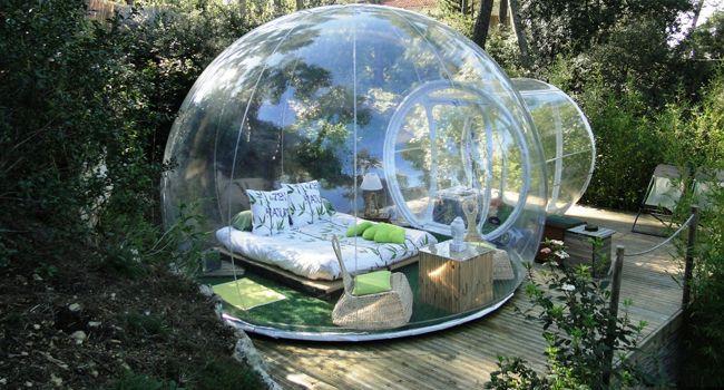 Burbujas para acampar en plena naturaleza - La Nueva España - Diario Independiente de Asturias