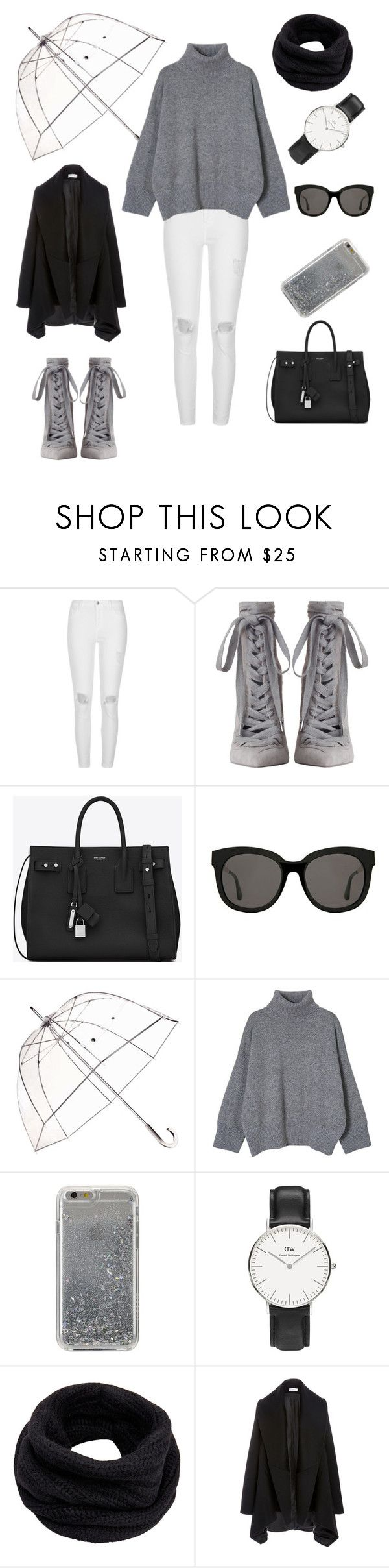 """Untitled #254"" by natalyholly on Polyvore featuring River Island, Zimmermann, Yves Saint Laurent, Gentle Monster, Totes, Agent 18, Daniel Wellington and Helmut Lang"