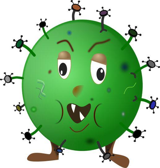 germ cartoon green