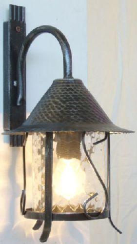 LAMPADA-LANTERNA-APPLIQUE-PLAFONIERA-CILINDRO-MENSOLA-IN-FERRO-BATTUTO