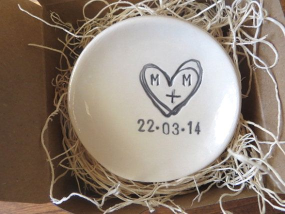 ring holder ring dish  engagement gift wedding by PromisePottery