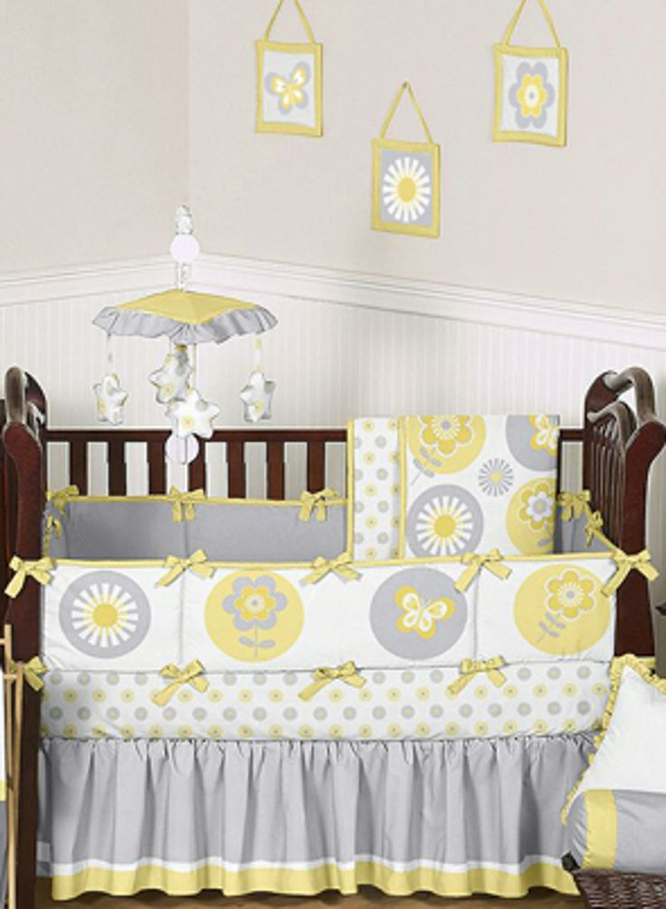 30 Best Yellow And Gray Baby Bedding Images On Pinterest