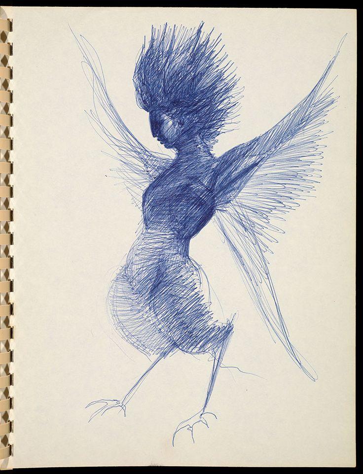 Marjorie Cameron (American, 1922–1995) ca. 1957 Ballpoint pen The Getty Research Institute