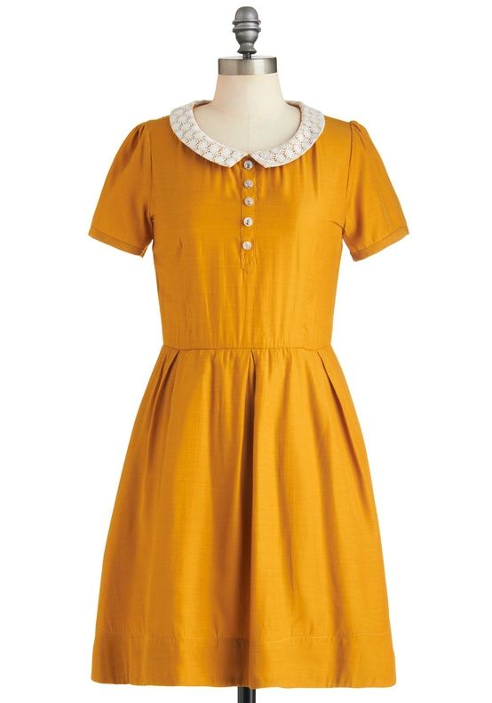 Modcloth - Goldenrod to Happiness Bridesmaids Dress in Lemon Zest