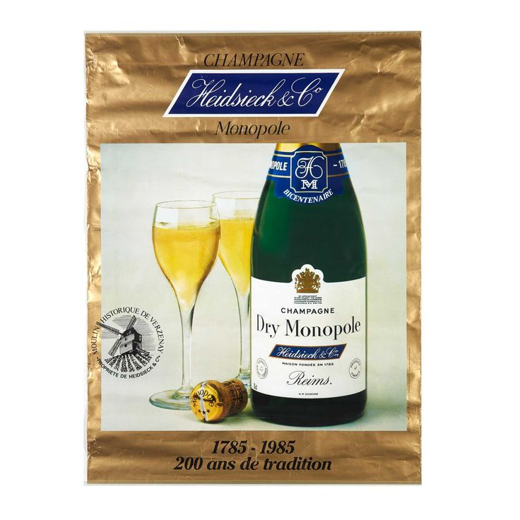 ANONYME. Champagne Heidsieck Monopole. Offset