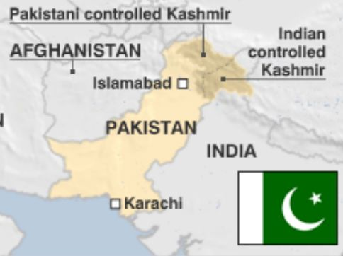 In their map of Pakistan, BBC, the international news agency has marked all of Jammu and Kashmir and has made a distinction between 'Pakistani controlled Kashmir' and 'Indian controlled Kashmir'.