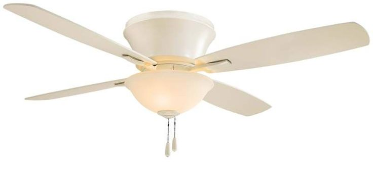 """View the MinkaAire Mojo II 52"""" 4 Blade Indoor Flush Mount Ceiling Fan with Blades and Integrated Light Kit at Build.com."""