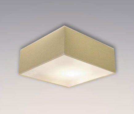 Plafón 2 luces PANTALLA BEIGE - Leroy Merlin